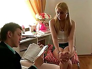 Anabela is a very hot beauty who has large problems with her studies. She is completely dumb, because that babe never opens her books and notebooks, and that babe doesn't understand what does her classmate desire from her. There is only one way to to pass away their time - her classmate Leo will assist Anabela to pass her tests, and for her part that babe will give the road for his rod to all her insatiable holes that are willing for deep penetration and hard fucking. Her face will be coated with jizz, and her asshole will never forget this avid fucking.