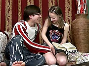 This delightful legal age teenager cutie has had a hard time with her homework but her tutor wants to give her smth even harder. That babe goes from studying books to sucking weenie and even receives her tight little cunny stuffed with cock. Then he teaches her how to take a bone up the backdoor and ass fucks the hell out of her ending by gushing cum in her mouth.