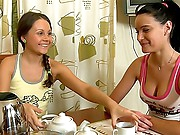 Those two gals never feel bored because they know how to have fun! Yanie decided to massage Dulce's tired body, and Dulce agreed her proposal. Now u can look at this amazing lesbian massage with lots of kisses, pussy-licking, masturbation and dildo fucking! Those teen beauts know how to get fun and how to reach multiple orgasms!
