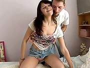 Dania asked her ally to give her a pair bucks, so that that babe could go to the concert. Her boyfriend willingly acquiesced to aid this cute teen, however, he doesn't mind to get smth instead. He is very fortunate bastard - he will lick her little clitoris and stuff her fascinating bawdy cleft hole with his long dong. Dania likes this fucking session and that babe allows the dude to creampie her happy snatch.