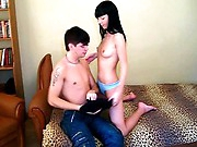 This horny teen dark brown wanted to penetrate her recent classmate ever since this sexy chap transferred to her School and now when the two are finally all alone in her room that babe wastes no time getting naked and spreading her legs to take hard shlong balls deep in her moist pussy. Penetrate being a shy girl! This dude makes her feel like a slut who wants to receive drilled in each position possible and ride his rigid rod to agonorgasmos like an experienced whore.