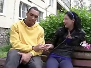 This ebony chap is tall,exotic, attractive and greatly romantic. He has it all to impress a silly legal age teenager brunette he met right on the street and as it turns out that babe doesn't mind getting a valuable feel of his big darksome dong inside of her constricted youthful pussy. She seems so bashful at first, but one time the chap makes her actually slutty that babe just turns into a wicked cock-craving slut ready to suck a big darksome boner balls deep and penetrate a total stranger in each position possible. There's a slut in each legal age teenager chick and this one is lastly unleashed!