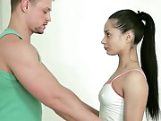 It's always precious to be in a precious shape, to make sports and fitness. This time Anna has decided to make some exercises with her personal trainer. That guy has been staring at her juicy booty the entire time lengthy and suddenly, he puts his hands on her gazoo and begins rubbing it along with the pussy. This babe likes it a lot, so he takes off her shorts and licks her juicy bawdy cleft as well as her constricted asshole. It all follows up with a precious orall-service and incredible fucking session!