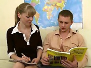 Homework is boring and fucking is far more gripping so lusty legal age teenager Kristina and her stud acquire naked and acquire down to the business of banging hard in the arousing hardcore video. This chab eats her wet pussy and her fascinating mouth sucks him to an erection that this chab slides into the shaved aperture and pushes deep, fucking this hottie hardcore.