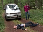 When this guy asked his girlfriend if this babe wanted to go camping with him this babe had no idea she'd end up getting fucked in a car and even right in the woods. That babe had it all quite different in her mind, but when the guy started teasing her teats and muff this babe didn't poke him away. Au contraire, this babe begged for him to copulate her harder taking his knob in her tight youthful muff like a wild sex-hungry slut. What a great sex camping adventure!