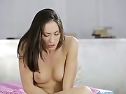 sex kitten loves to seduce herself, teasing her pointy breasts and tastey beaver until she feels her honeypot growing tingly with excitement and requiring an climax